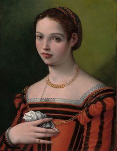 Michele Tosini, called Michele di Ridolfo  Italian, 1503-1577, Portrait of a Lady