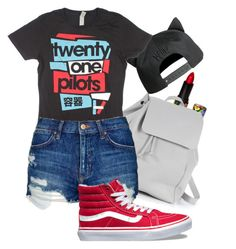 """""""Twenty One Pilots"""" by madison-taylor-73 ❤ liked on Polyvore featuring Lime Crime, Zara TRF, Topshop and Vans"""