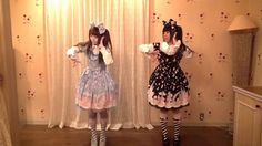 ✶-- Dance Cover ♪♫ ('odottemita'- '踊ってみた' - 'I tried dancing') --✶ 'galaxias!' Vocaloid dance cover performed by twinning sweet lolitas in Angelic Pretty 'Milky Planet' dress, kawaii dance cover