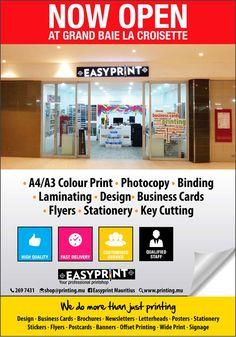 EASYPRINT - Now Open in La Croisette. Info: 269 7431