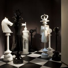 "Moschino boutique in Milan, Via Sant'Andrea 12 – June 2012 window display – Theme: ""Chess"""