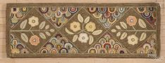 York County, Pennsylvania contemporary hooked rug, by Eredene Unger, of flowers, 20'' x 55''. - Price Estimate: $100 - $150