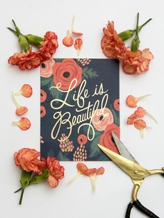 Rifle Paper Co Life is beautiful card – Papermash
