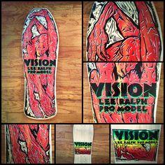 The Vision Lee Ralph skateboard of my 1989 misspent youth. Vision Skateboards, Vintage Skateboards, Vision Street Wear, Skate And Destroy, Skate Art, Skate Decks, Old School, Nostalgia, Youth