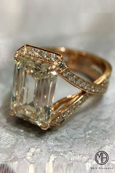 Moissanite Engagement Ring Unique White Gold Moissanite Ring Flower Engagement Ring - Fine Jewelry Ideas - Unique And Beautiful Mark Broumand Engagement Rings ❤︎ Wedding planning ideas & inspiration. Vintage Engagement Rings, Vintage Rings, Diamond Engagement Rings, Vintage Jewelry, Vintage Diamond, Diamond Jewelry, Jewelry Rings, Fine Jewelry, Jewelry Ideas