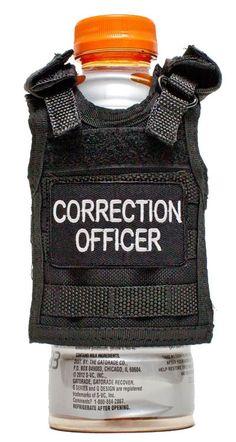 Miniature Tactical Vest Beverage Koozie - CORRECTION OFFICER