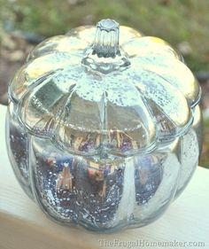 The Frugal Homemaker shows us how to create a Mercury Glass Pumpkin using Rustoleum's new Mirror Effect!