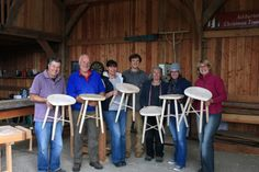 Another great group of people on my Stool Making course. More...