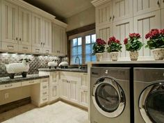 Ivory laundry room Sweet