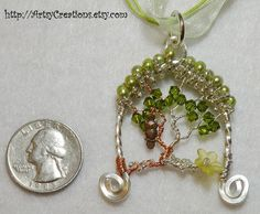 Hand Made Tree of Life Pendant Wire Wrapped by ArtsyCreations, $38.00