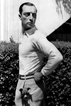 Buster Keaton + a pocket puppy.