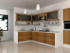 cocinas integrales Smart Kitchen, Modern Kitchen Cabinets, Kitchen Dinning, Kitchen Corner, Kitchen Interior, Beach House Kitchens, Home Kitchens, High Gloss Kitchen, Room Partition Designs