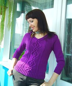 34 Zopfmusterpullover by Rebecca Design Team - best in strong colours, not so great in pastels