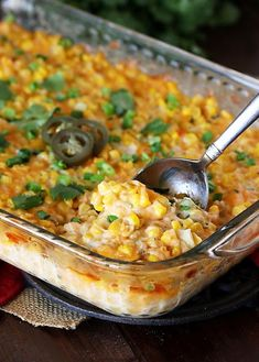 No calories in this! I would use less and some cheese, light cream cheese and to lighten it up Cheesy Fiesta Corn Casserole. No calories in this! I would use less and some cheese, light cream cheese and to lighten it up Corn Recipes, Side Dish Recipes, Veggie Recipes, Mexican Food Recipes, Cooking Recipes, Mexican Dishes, Corn Dishes, Veggie Side Dishes, Vegetable Dishes