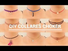 12 IDEAS FÁCILES PARA CREAR TUS CHOKERS/GARGANTILLA - YouTube
