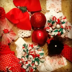 #Dress up your little #girls with these handmade #Christmas headbands from Ma Maison