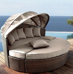 Fineway Hollywood Garden Rattan Daybed Furniture Outdoor
