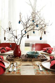 Acorn centerpiece perfect for fall weddings!