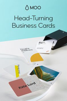 These are not your average business cards. Tell the story of you and your business with premium paper stocks, full-color, double-sided designs and unique options like gold foil, raised gloss and rounded corners. start with a template or uplo Business Cards Online, Custom Business Cards, Business Card Design, Business Planning, Business Tips, Schmidt, Make Money Online, How To Make Money, Tema Wordpress
