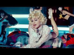 """You're watching the official music video for """"Give Me All Your Luvin'"""" feat. and Nicki Minaj directed by Megaforce from Madonna's album 'MDNA' release. Madonna Looks, Madonna Albums, Rap Songs, Avril Lavigne, Conspiracy Theories, Original Song, Vintage Glamour, Nicki Minaj, Katy Perry"""
