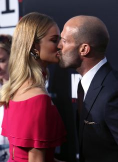 Pin for Later: Rosie Huntington-Whiteley Looks Like Barbie During a Date Night With Jason Statham