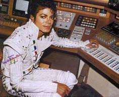 Michael Jackson on the set of Captain EO