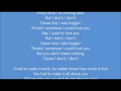 Mariah Carey - I Don't ft  YG Lyrics