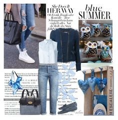"""Blue Summer with Denim Jacket"" by nadine-b-martin ❤ liked on Polyvore"