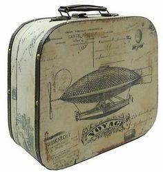 36,50 + 7,90 . boutique deco-france0160 sur ebay.style ancienne malle coffret boite valise a main valise de decoration 33x30cm