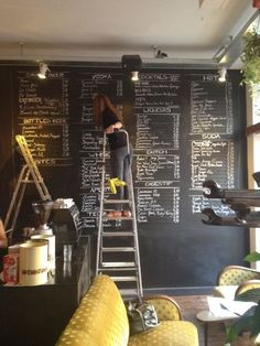 I want to do this wall of chalkboard paint in my kitchen -- when my kids are bad I'll have them write their digressions down on it 100 times ;-)