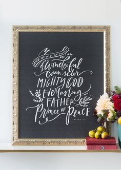 Inspirational wall art - Wonderful Counselor featuring Isaiah 9:6 from Lindsay Letters.