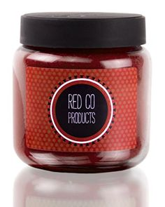 Red Co Products Fresh Roasted Coffee Beans Glass Jar Candle, 16 oz