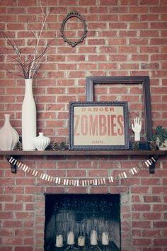 Amanda Wright of Wit & Whistle zombies, halloween, decor, brick Holidays Halloween, Fall Halloween, Halloween Decorations, Halloween Ideas, Halloween Party, Easy Decorations, Halloween Tricks, Halloween Signs, Halloween House
