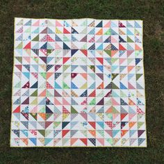 Finish It Up Friday ~ HSTs Quilt | KatyQuilts