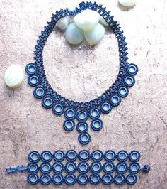 Blue Chic Crochet Necklace - Silk and Wool Crochet - high5humans