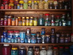 Mosaic Studio jars of colour (2) by lubsy1uk, via Flickr