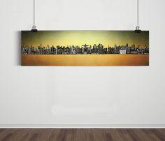 Poster Panorâmico World Skyline Degrade / Artista Sergio Piancó