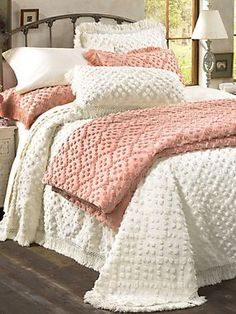 Savannah Chenille Bedspread & Shams | LinenSource