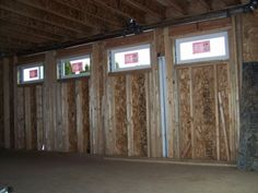 Windows of the new family room are installed