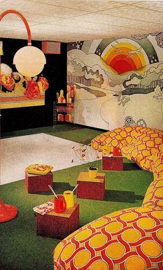 Living Vintage, Vintage Room, Vintage Decor, 60s Home Decor, 1970s Decor, Vintage Interior Design, Vintage Interiors, Interior Colors, Diy Interior