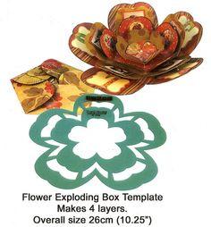 flower exploding box template