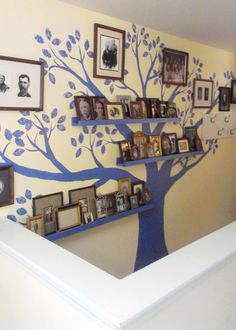 My Family Tree Mural and Finding My Light. DIY family tree mural