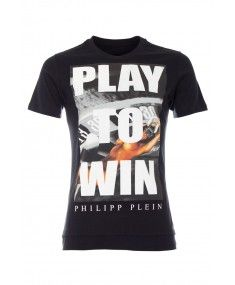Philipp Plein - 'Play to Win' T-Shirt Black Front Latest Fashion Design, Fashion Designer, Designer Sale, London Clothing Stores, Rebel, Philipp Plein T Shirt, Designer Clothes For Men, Forever, Fashion Sale