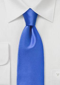 Krawatte unifarben Poly-Faser ultramarin