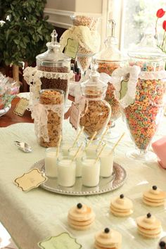 For the morning after slumber party Breakfast Party ideas. This would be so cute for after the bachelorette party/sleepover