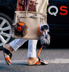 Hermes Kelly with Fendi Carlito and buggy charm Hermes Birkin, Hermes Bags, Kelly Bag, Hermes Kelly, Fendi Bag Charm, Fendi Bag Bugs, Best Street Style, Fashion Bags, Womens Fashion