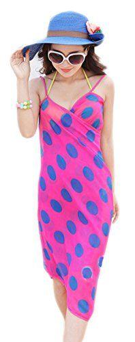 Seaside Beach Dress Joker Condole Belt Bikini Wrapped Yarn Printing Floral Skirt *** Click image to review more details.