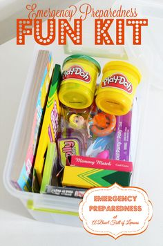 Keep the kids entertained in the event of an emergency. Perfect to tuck in to a backpack or shelter just in case! Via A Bowl Full of Lemons