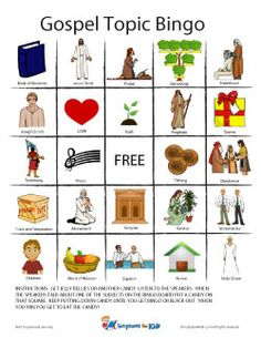 General Conference Bingo! It comes with 5 different cards.