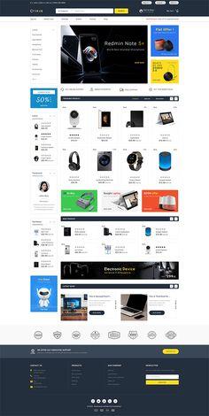 Croxus – The Multi Store Template - Blackfriday Design Ecommerce Website Design, Website Design Layout, Website Design Inspiration, Ecommerce Websites, Ecommerce Store, Design Websites, Web Minimalista, Photoshop, Website Themes